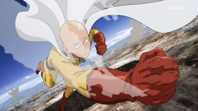 Saitama is listed (or ranked) 3 on the list 13 Anime Characters Who Could Probably Beat Goku