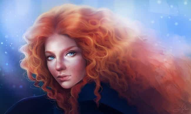 Merida is listed (or ranked) 2 on the list Realistic Fan Art Of Pop Culture Favorites