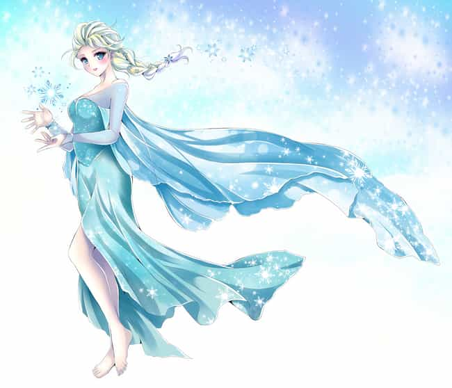 Elsa is listed (or ranked) 4 on the list 15 Disney Princesses Drawn As Anime Characters