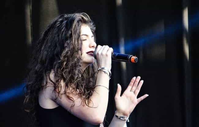 Lorde is listed (or ranked) 7 on the list These Celebrity Spotify Playlists Give Listeners A Peek At What Their Faves Are Jamming To