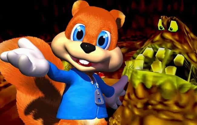 Conker the Squirrel is listed (or ranked) 3 on the list 12 Forgotten Video Game Mascots That Need To Make A Comeback