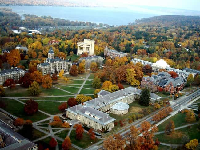 Cornell University is listed (or ranked) 3 on the list All Ivy League Schools