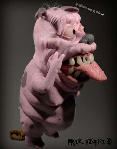 Courage The Cowardly Dog is listed (or ranked) 2 on the list Miguel Vasquez Creates Realistic Depictions Of Your Favorite Cartoons And They're Upsettingly Good