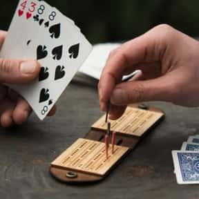 Cribbage is listed (or ranked) 23 on the list The Most Popular & Fun Card Games