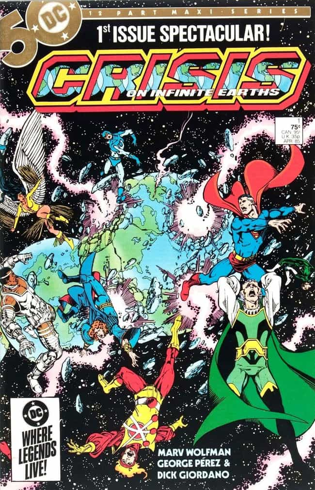 Crisis on Infinite Earths is listed (or ranked) 3 on the list 16 Great Comic Books For Seasoned Comic Book Readers
