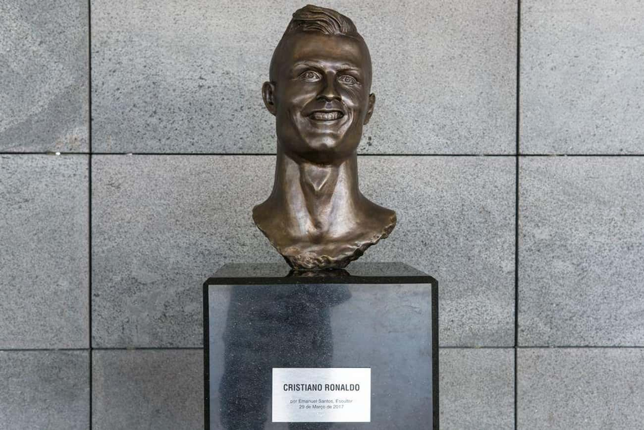 Cristiano Ronaldo - Madeira, P is listed (or ranked) 1 on the list The Weirdest Statues of Celebrities