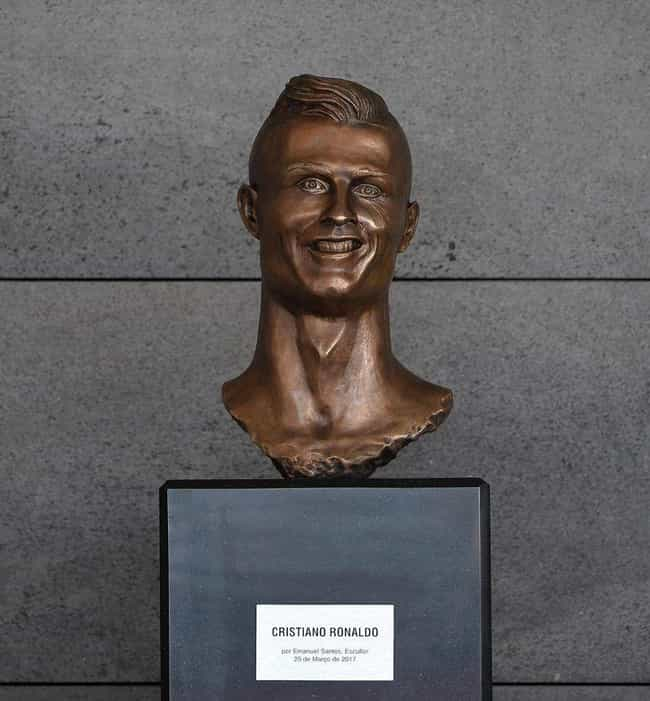 Cristiano Ronaldo is listed (or ranked) 1 on the list The Weirdest Statues of Celebrities
