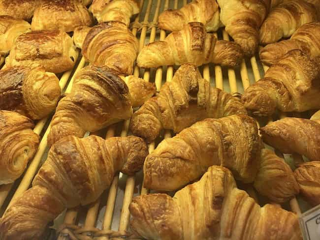 Croissant is listed (or ranked) 4 on the list Essential 'National' Food Dishes Whose Origins We Were Totally Wrong About