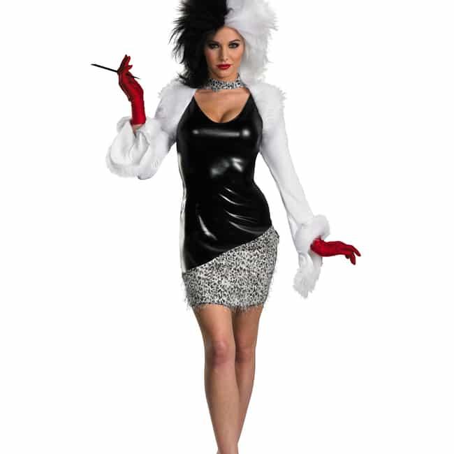 cruella de vil is listed or ranked 1 on the list disney villain halloween