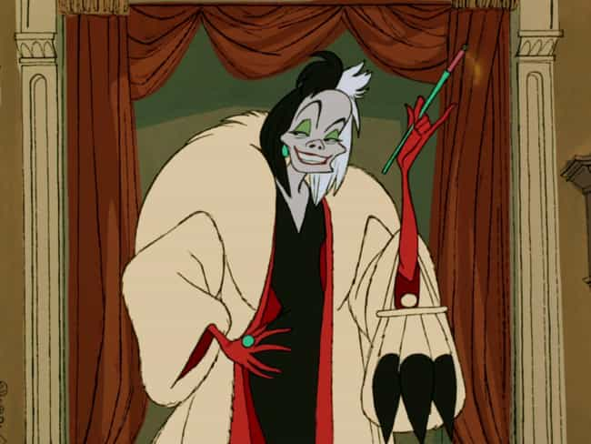 Cruella de Vil is listed (or ranked) 1 on the list The Best Fur Coats in Pop Culture