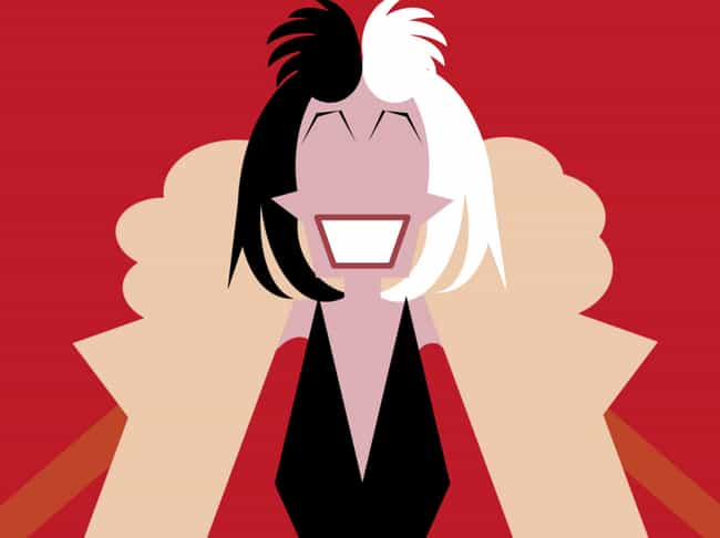 Cruella de Vil is listed (or ranked) 4 on the list 20 Pieces Of Amazing Minimalist Fan Art That Real Fans Will Recognize In An Instant