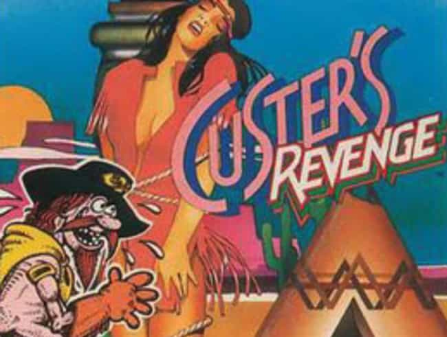 Custer's Revenge is listed (or ranked) 3 on the list Dirty Old School Video Games