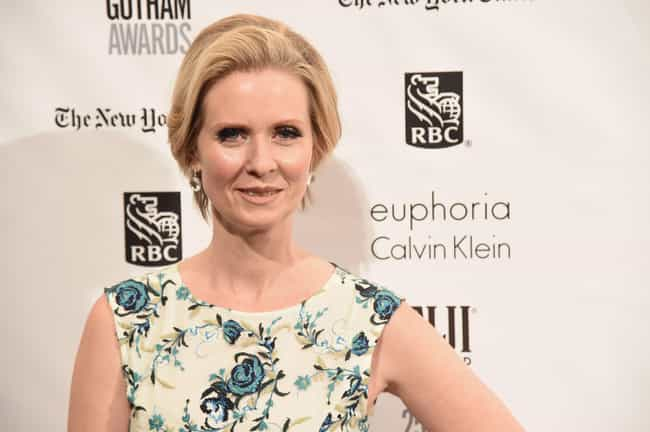 Cynthia Nixon is listed (or ranked) 3 on the list Celebrities Who Wear Calvin Klein