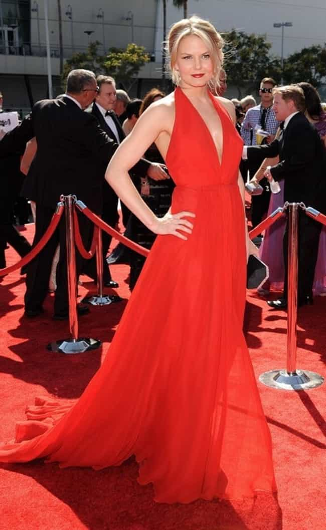 Jennifer Morrison is listed (or ranked) 4 on the list The Most Beautiful Celebrity in a Red Dress