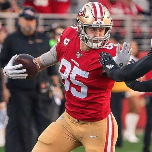 George Kittle is listed (or ranked) 4 on the list Who Will Win MVP Of Super Bowl 54?