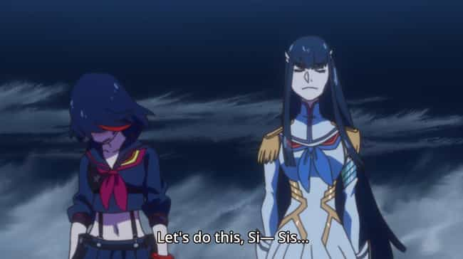 Kill la Kill is listed (or ranked) 8 on the list 14 Anime Plot Twists That Left Your Jaw On The Floor