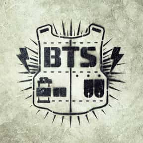 BTS is listed (or ranked) 2 on the list The Best Kpop Idol Logos