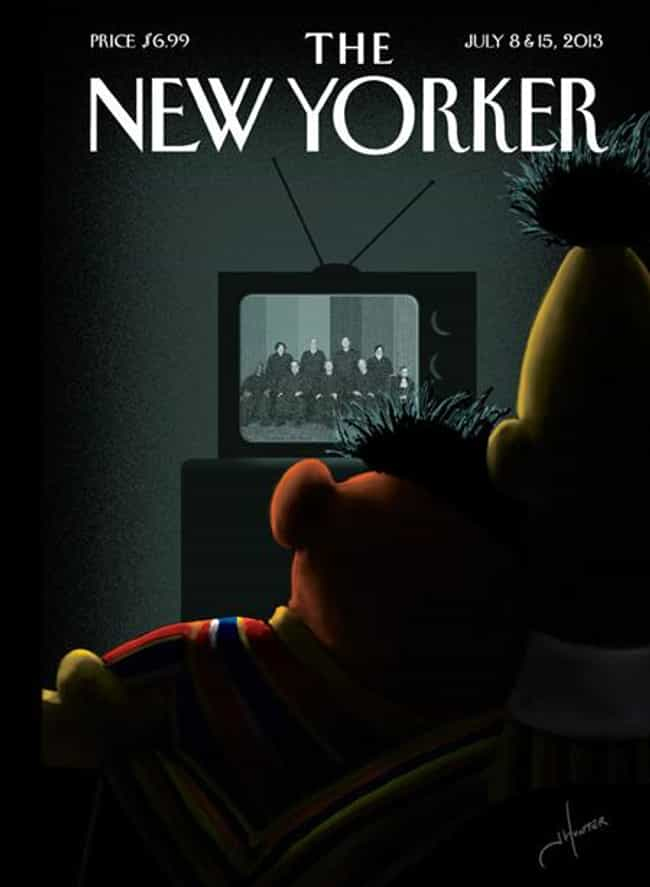 Bert & Ernie is listed (or ranked) 3 on the list The Best New Yorker Covers