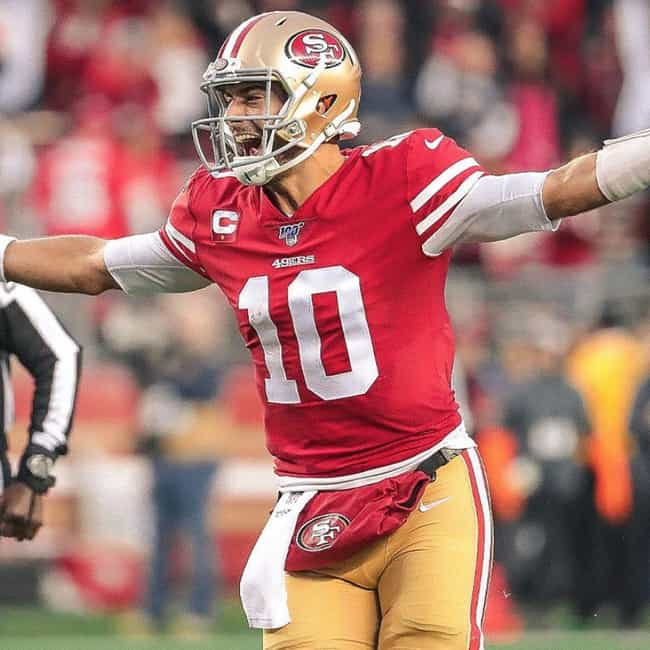 Jimmy Garoppolo is listed (or ranked) 2 on the list Who Will Win MVP Of Super Bowl 54?