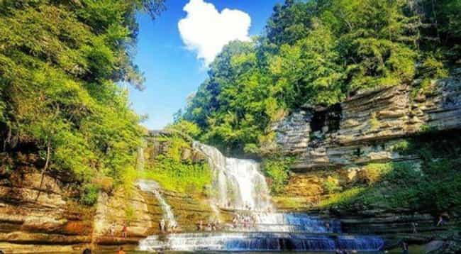 Cummins Falls is listed (or ranked) 4 on the list Secret Natural Swimming Holes To Add To Your Travel List