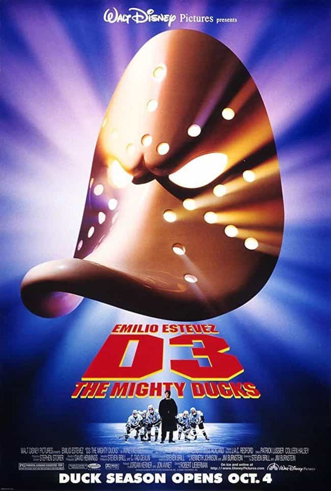 D3: The Mighty Ducks is listed (or ranked) 3 on the list All the Mighty Ducks Movies and Series, Ranked Best to Worst