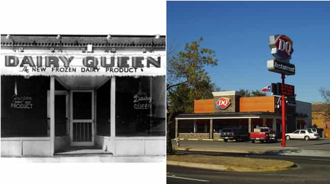Dairy Queen is listed (or ranked) 1 on the list How Storefronts Evolved Over Time