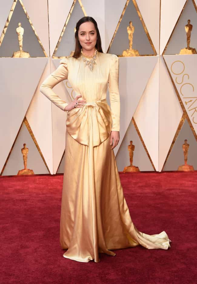 Dakota Johnson is listed (or ranked) 1 on the list The 20 Worst Dressed Stars At The 2017 Academy Awards