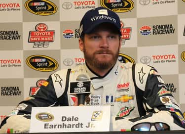 Dale Earnhardt, Jr. is listed (or ranked) 1 on the list NASCAR Drivers And Officials Who Lean to the Left