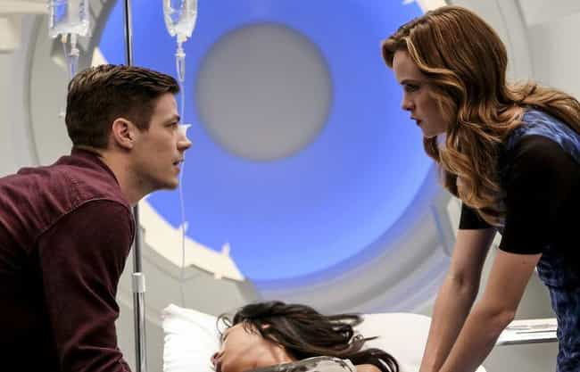 Danielle Panabaker is listed (or ranked) 2 on the list Grant Gustin Loves and Hookups