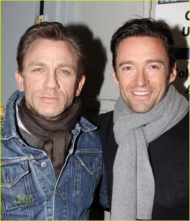 Daniel Craig is listed (or ranked) 3 on the list Famous Friends of Hugh Jackman