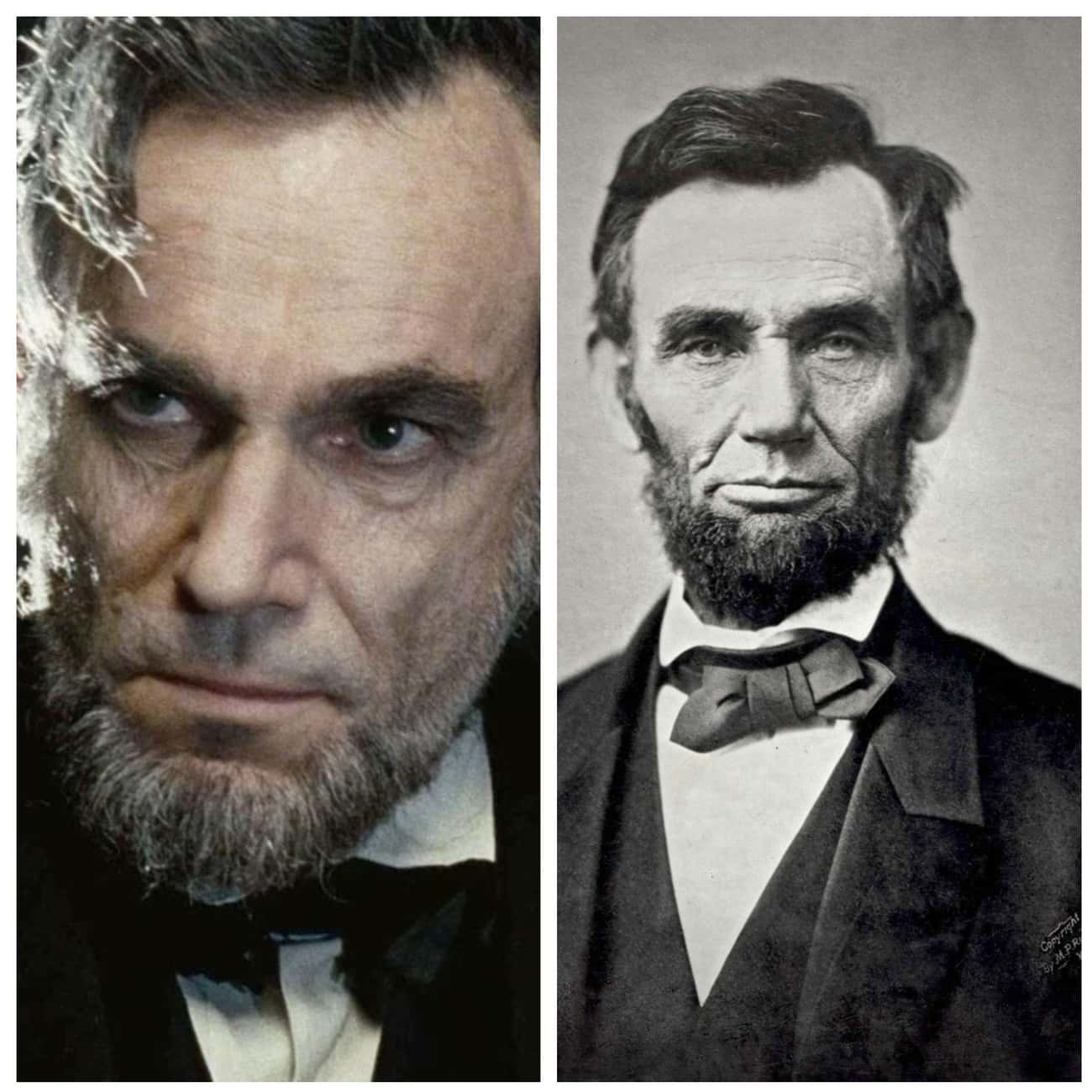 Daniel Day-Lewis Vs. Abraham L is listed (or ranked) 3 on the list 21 Actors Vs. The Historical Figures They Portrayed On-Screen