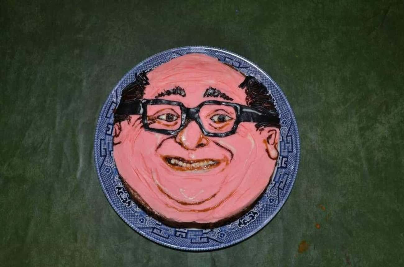 Sorry Danny is listed (or ranked) 1 on the list 17 Celebrity Face Cakes That Don't Look Quite Right