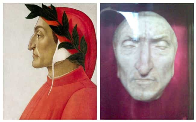 Dante Alighieri is listed (or ranked) 4 on the list 17 Plaster Face Molds Of Famous Historical Figures That Were Made Moments After They Died