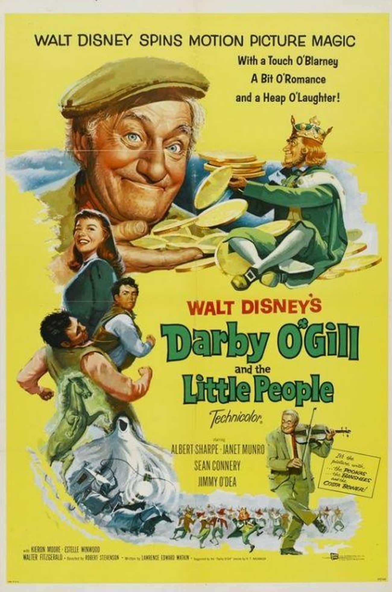 Darby O'Gill And The Littl is listed (or ranked) 3 on the list 19 Forgotten Movies You Probably Didn't Realize Are On Disney+