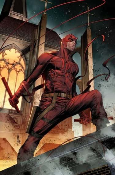 Daredevil is listed (or ranked) 2 on the list 13 Seemingly Disabled Superheroes & Villains