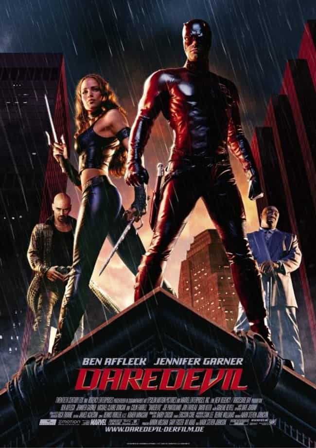 Daredevil is listed (or ranked) 2 on the list The Worst Comic Book Movie Posters