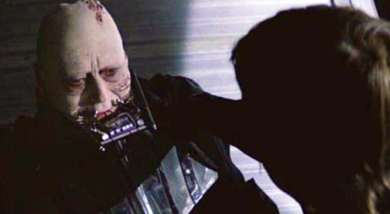 Darth Vader is listed (or ranked) 3 on the list The 20 Most Unforgettable Last Words Of 'Star Wars' Characters