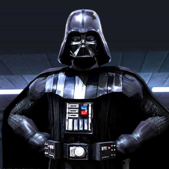 Darth Vader is listed (or ranked) 3 on the list The Greatest Masked Characters