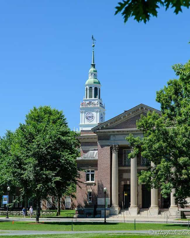 Dartmouth College is listed (or ranked) 4 on the list All Ivy League Schools