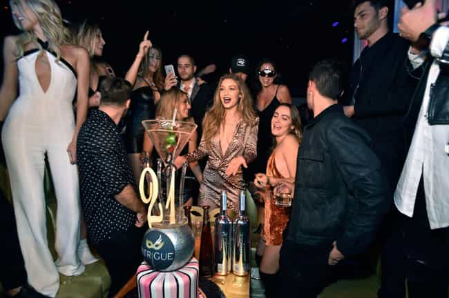 Gigi Hadid is listed (or ranked) 1 on the list How Celebrities Spent Their 21st Birthdays