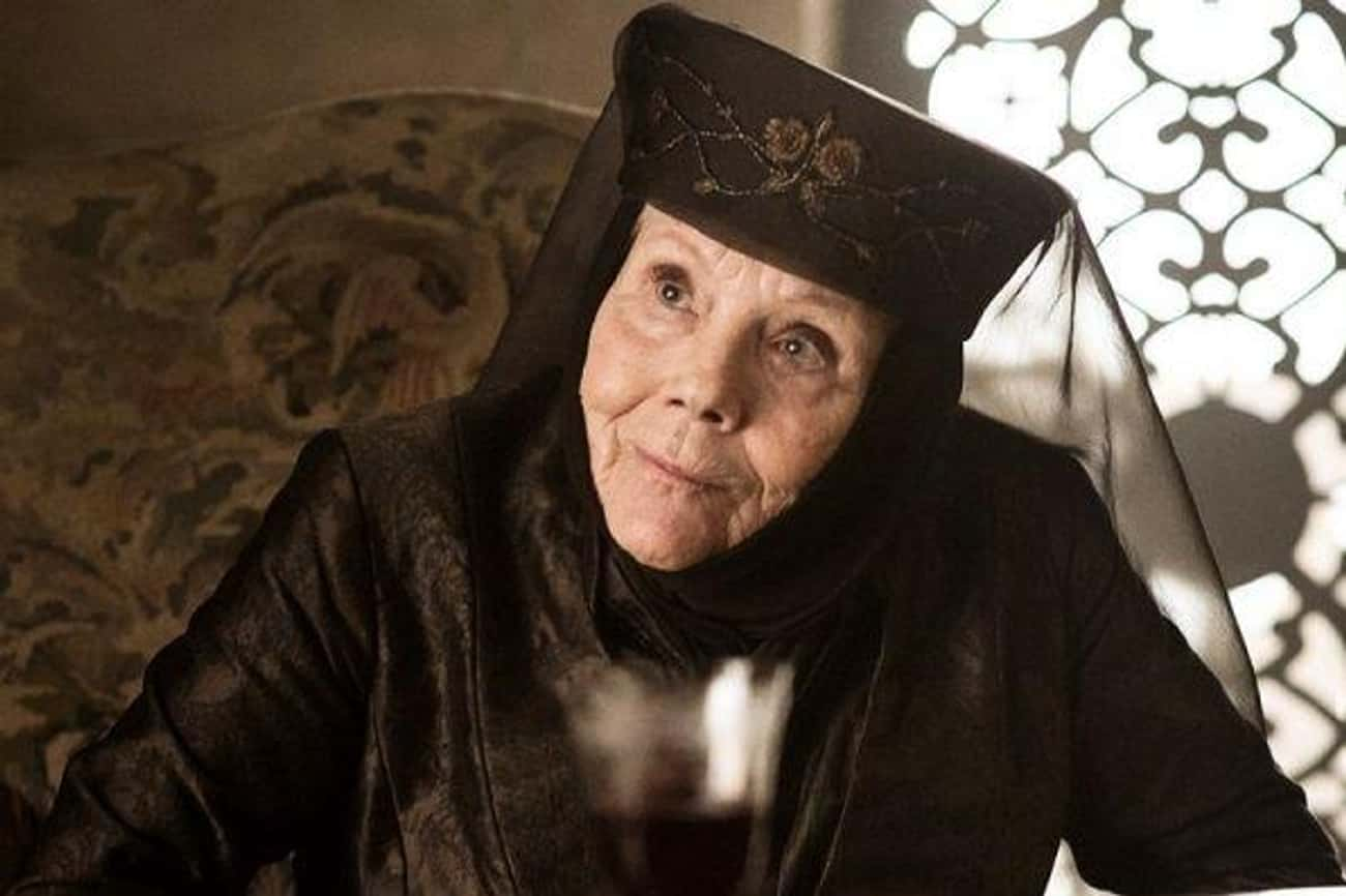 Olenna Tyrell Dies With A Drink In Her Hand