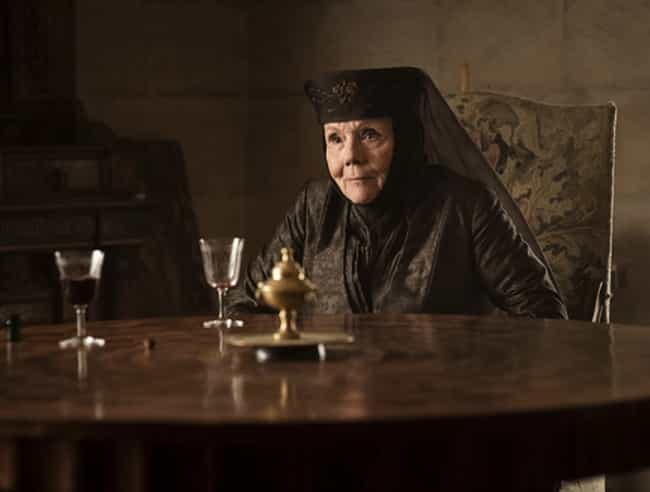 Olenna Tyrell is listed (or ranked) 4 on the list Which Gruesome 'Game Of Thrones' Death Are You, Based On Your Zodiac Sign?