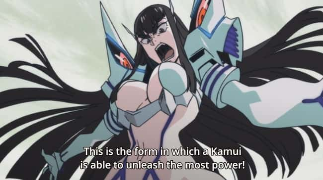Satsuki Kiryuin is listed (or ranked) 20 on the list 23 Anime Girls Whose Huge Boobs Are Actually A Problem