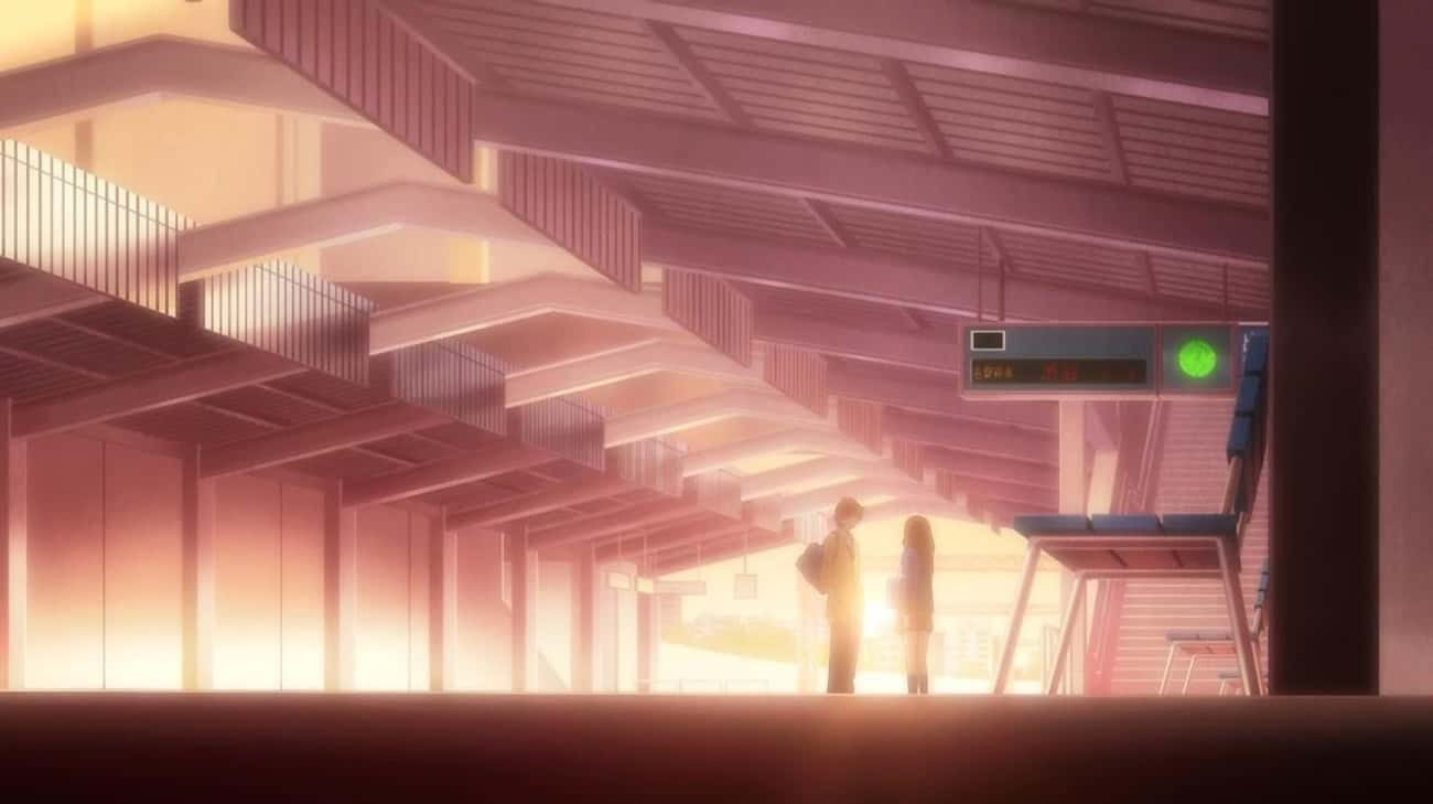 Au Haru Ride is listed (or ranked) 4 on the list Anime With The Most Gorgeous Train Station Scenes
