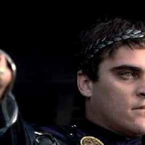 Commodus is listed (or ranked) 23 on the list The Greatest Movie Villains Of All Time