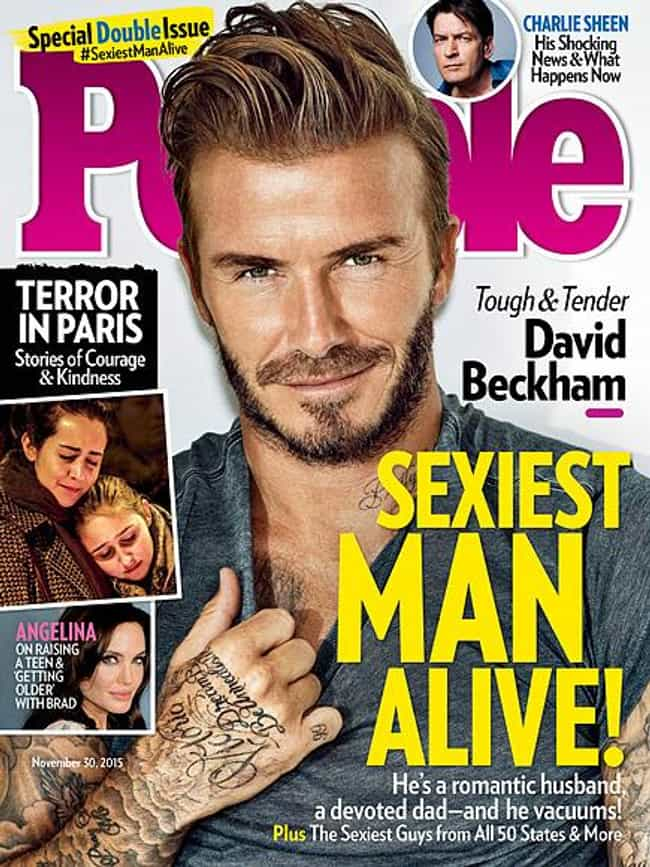 David Beckham is listed (or ranked) 4 on the list Every Cover of People's Sexiest Man Alive Issue, Ever