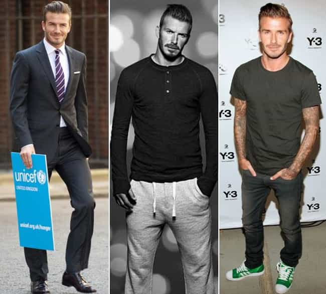 David Beckham is listed (or ranked) 1 on the list The Best Dressed Male Celebrities