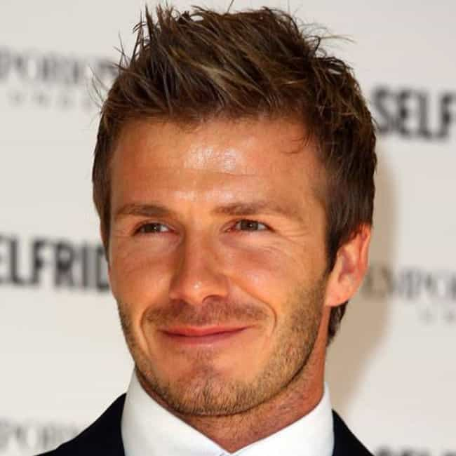David Beckham is listed (or ranked) 2 on the list Famous People with Widow's Peaks