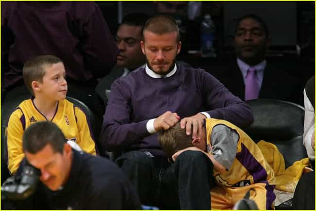 David Beckham is listed (or ranked) 8 on the list Celebrity Lakers Fans