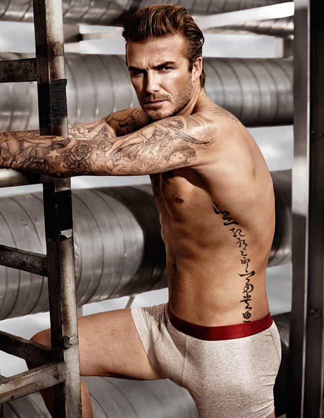 David Beckham is listed (or ranked) 4 on the list 18 Male Athletes Who Model